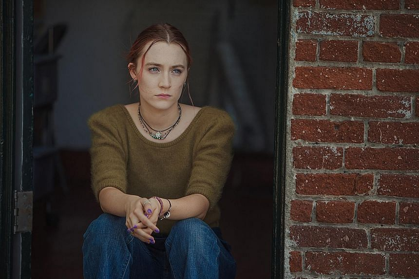 Studio A24's films up for the Oscars include Lady Bird (far left, starring Saoirse Ronan); The Disaster Artist (left, starring James Franco); and The Florida Project (starring Willem Dafoe, left below).