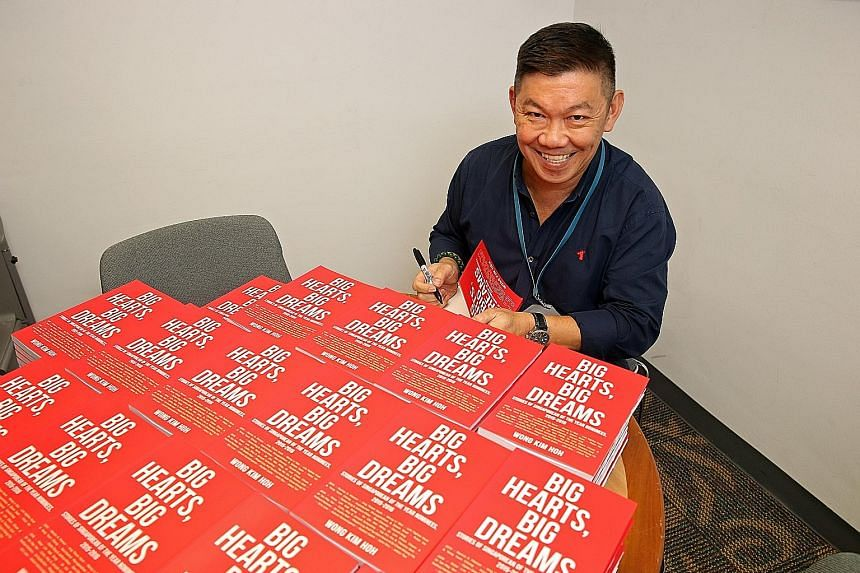 Books include Wong Kim Hoh's Big Hearts, Big Dreams (far left); Stephanie Suga Chen's novel Travails Of A Trailing Spouse (above); and Dr Kevin Tan and Dr Lam Peng Er's Lee's Lieutenants: Singapore's Old Guard (inset).