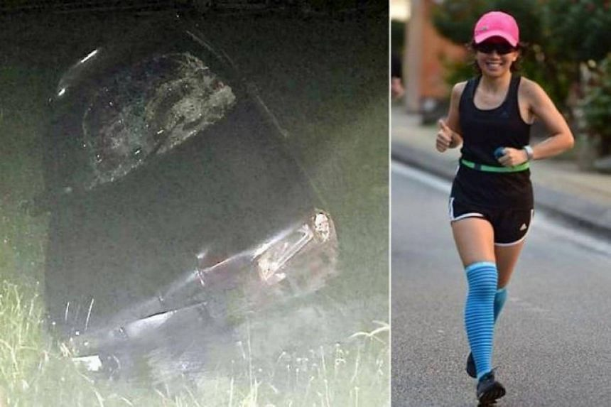 Malaysian marathon runner Evelyn Ang suffered a cranial fracture and bleeding in the brain in a car accident and never regained consciousness from a coma.