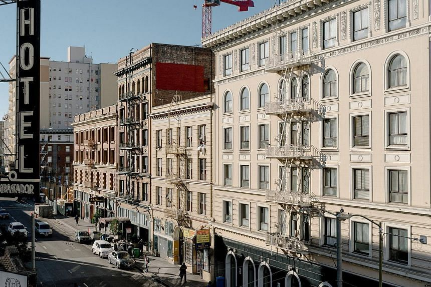 The Tenderloin neighborhood where Starcity is renovating two large buildings to turn into housing in San Francisco.