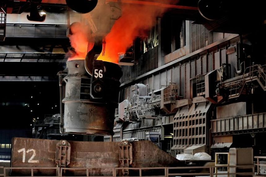 Crude steel is melted in the steel plant of German corporation ThyssenKrupp in Duisburg, Germany, April 7, 2017