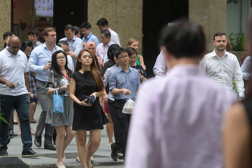 Professionals, managers and executives currently make up about one-third of Singapore's resident workforce, which stands at about 2.3 million.