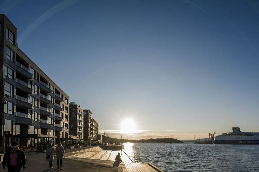A promenade in Oslo, Norway. Oslo is turning to new technology to help pinpoint litter in the capital's fjord, so that human divers can scour it off the seabed.