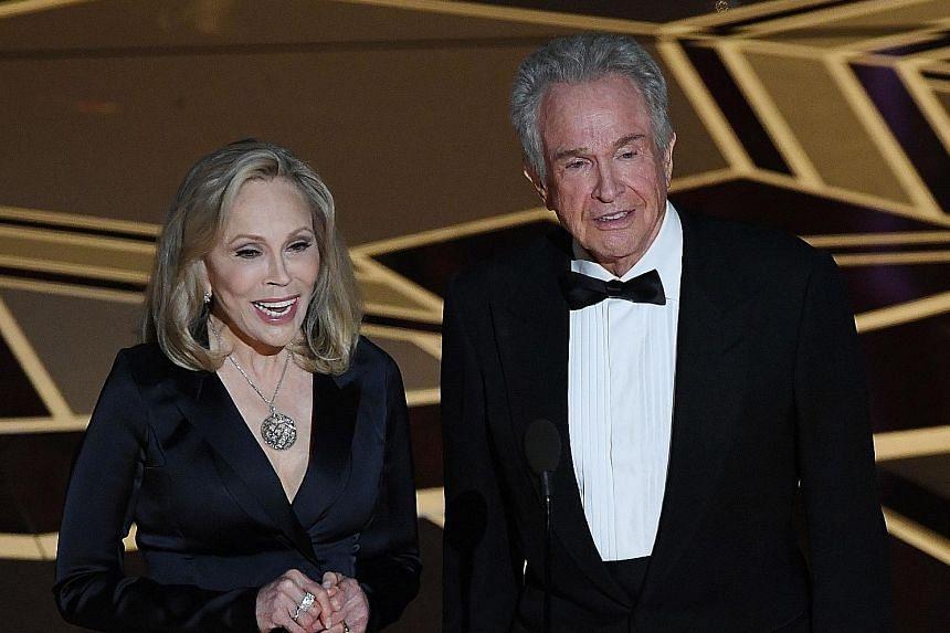 Warren Beatty and Faye Dunaway.