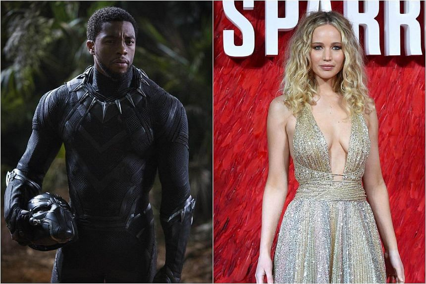 Black Panther collected about US$65.7 million over the weekend, compared to Red Sparrow's estimated US$17 million.