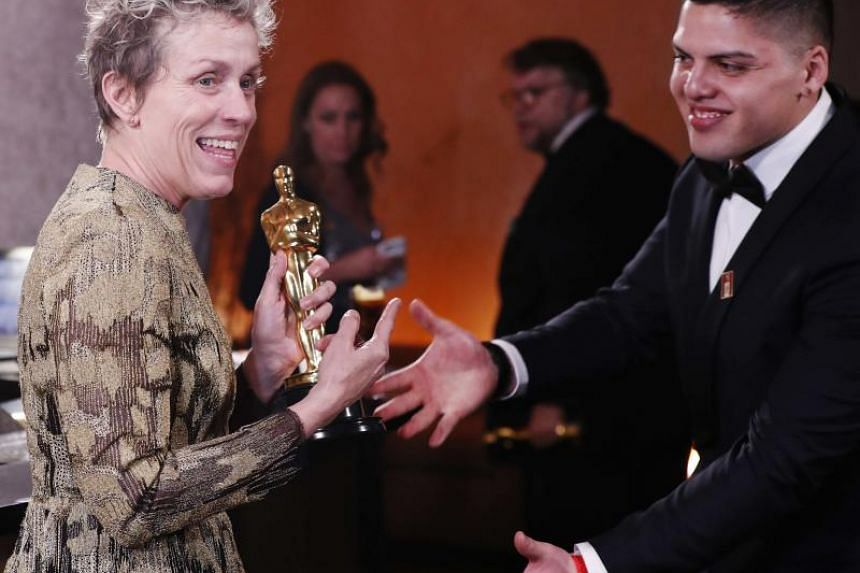 Frances McDormand, 60, won best actress at Sunday's (March 4) awards for her role as a rage-filled mother seeking justice for her murdered daughter in Martin McDonagh's Three Billboards Outside Ebbing, Missouri.