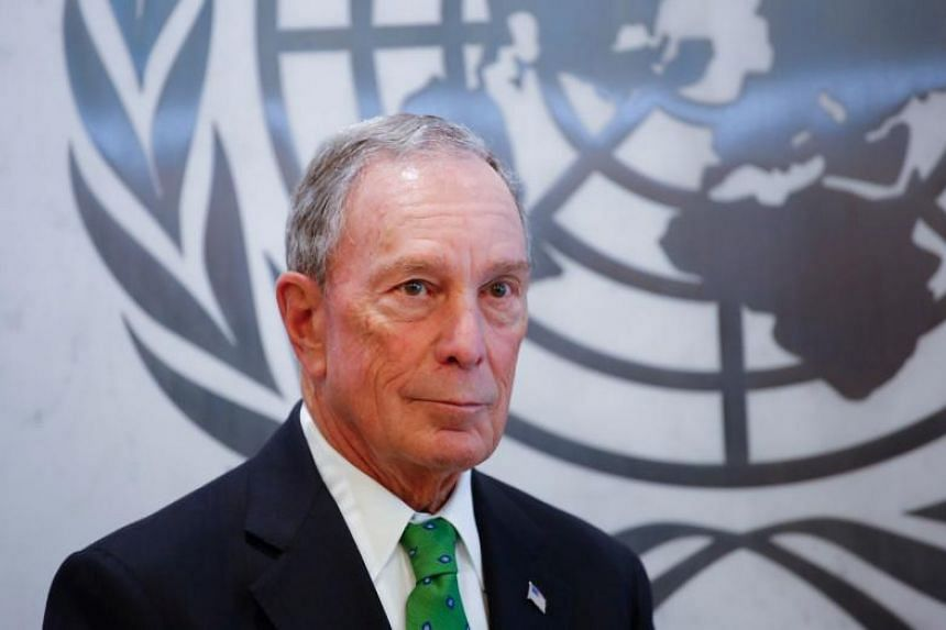 Michael Bloomberg poses after he was appointed Special Envoy for Climate Action UN by Secretary-General Antonio Guterres at the United Nations headquarters on March 5, 2018 in New York.