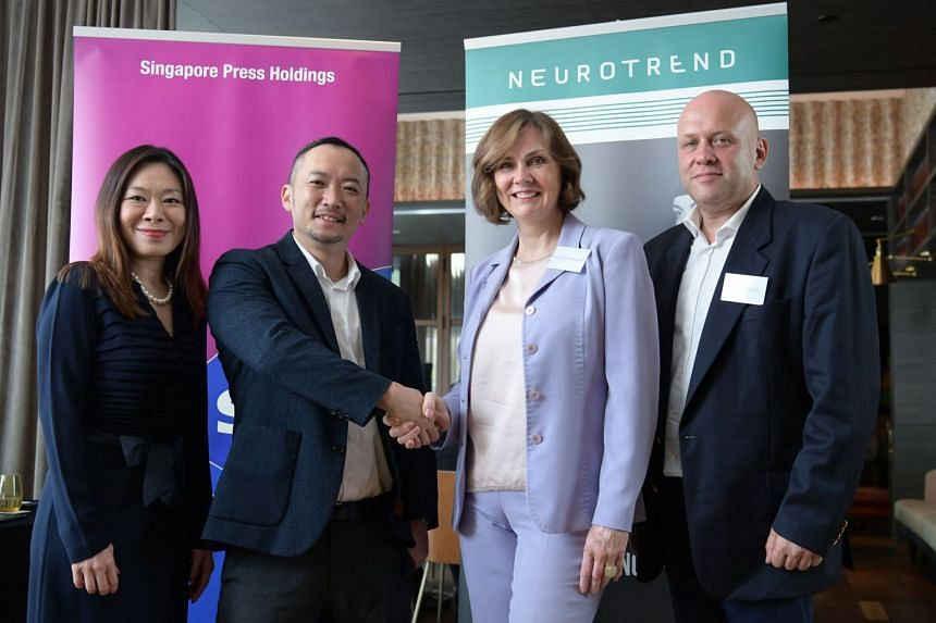 (From left) Tan Su-Lin, head of Sales Strategy and Operations, Integrated Marketing, SPH Limited; Ignatius Low, head of Media Solutions, Integrated Marketing, SPH Limited; Nataliya Galkina, CEO of NeuroTrend Singapore Pte Ltd; and Victor Levin, chair
