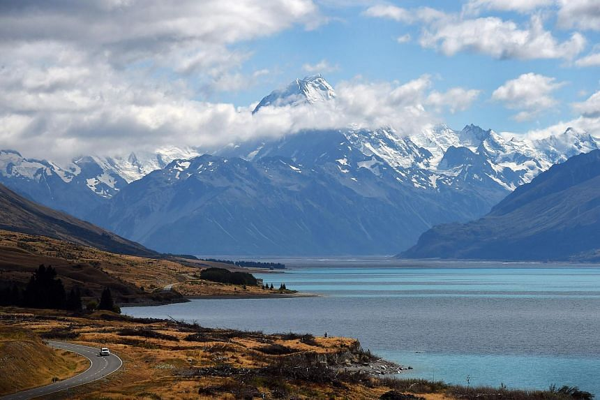 A file photo of New Zealand's highest mountain Mount Cook, on Feb 25, 2015. Scientists have linked extreme weather to climate change, including cyclone systems that have devastated Pacific island nations and caused flooding in New Zealand.
