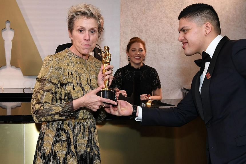 Best Actress laureate Frances McDormand attends the 90th Annual Academy Awards Governors Ball at the Hollywood and Highland Center on March 5, 2018, in Hollywood, California.