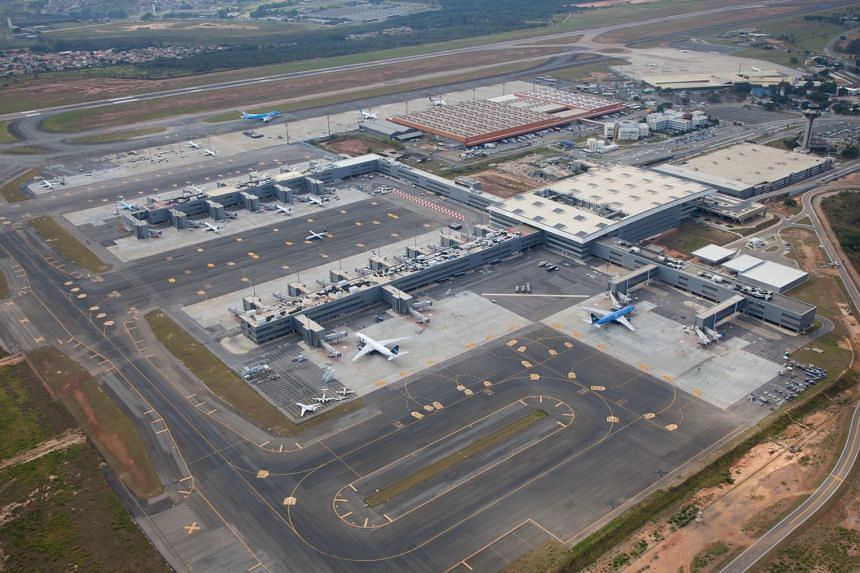 Lufthansa's plane had been travelling from Guarulhos airport in Sao Paulo and was making a stop at Viracopos - Brazil's biggest freight terminal - with Zurich as its final destination.