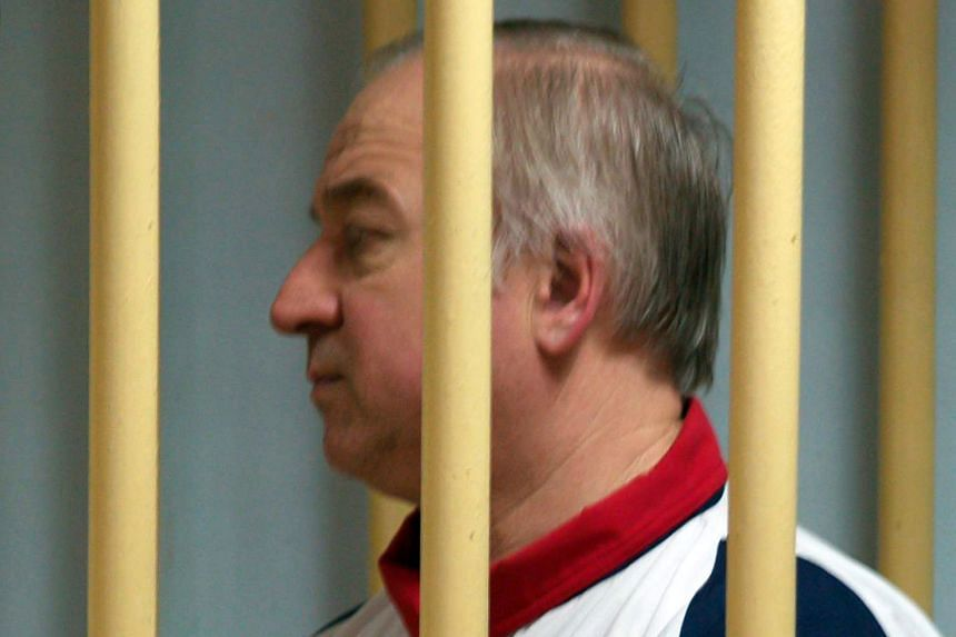 Former Russian military intelligence colonel Sergei Skripal attends a hearing at the Moscow District Military Court on August 9, 2006.