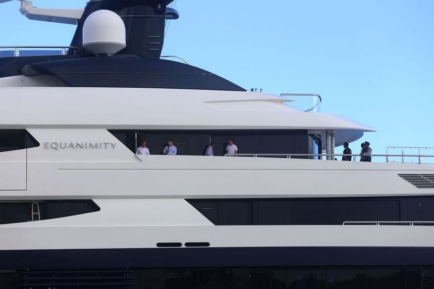 The Equanimity yacht was seized by Indonesian authorities on the island of Balion Feb 28, 2018, as part of the DOJ's corruption probe linked to the 1Malaysia Development Berhad (1MDB) state fund.