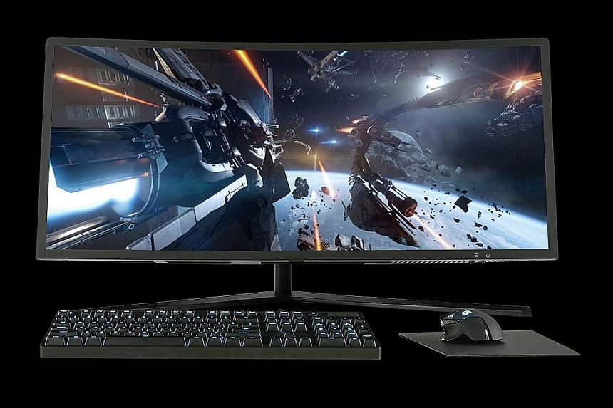 The Aeon 34 has an ultra-wide curved 34-inch display and can accommodate full-length desktop graphics cards.
