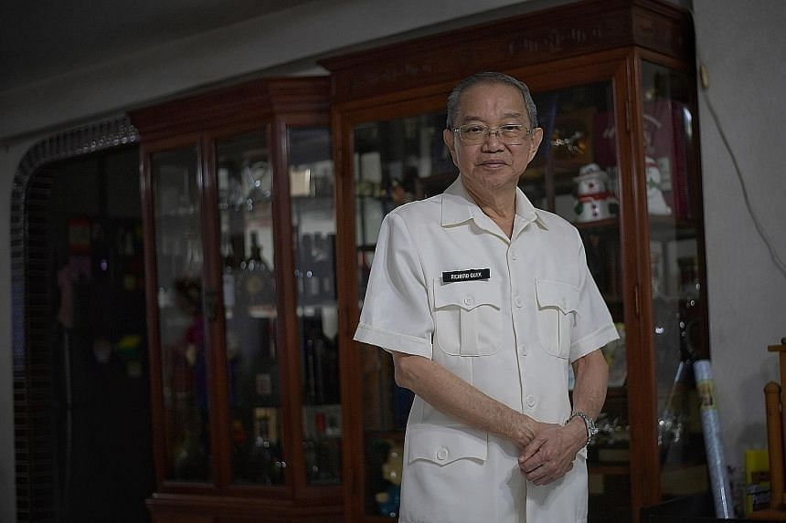 Mr Richard Quek, who put on his old uniform for the photo, was a driving tester for over 30 years. The retired Chief Tester of Traffic Police advises those taking the driving test to keep calm and treat the tester like he is the instructor, adding: ""
