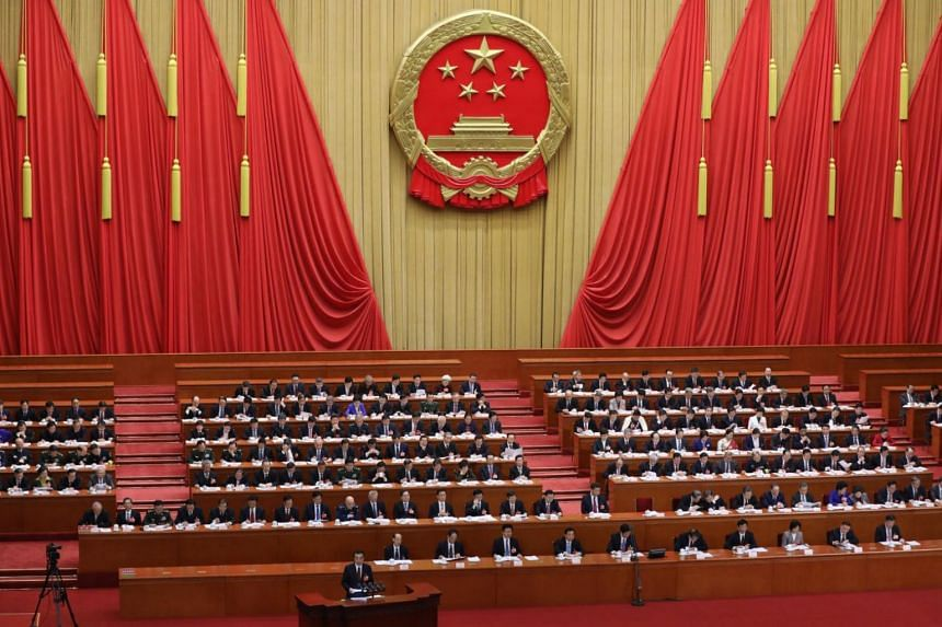 Delegates at first session of the 13th National People's Congress at the Great Hall of the People in Beijing, China, on March 5, 2018.
