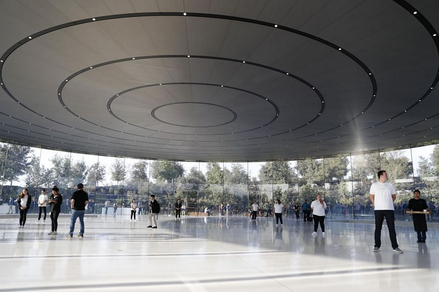 According to transcripts obtained by the San Francisco Chronicle, at least three 911 calls were made from Apple Park after people walked into the building's signature glass walls.