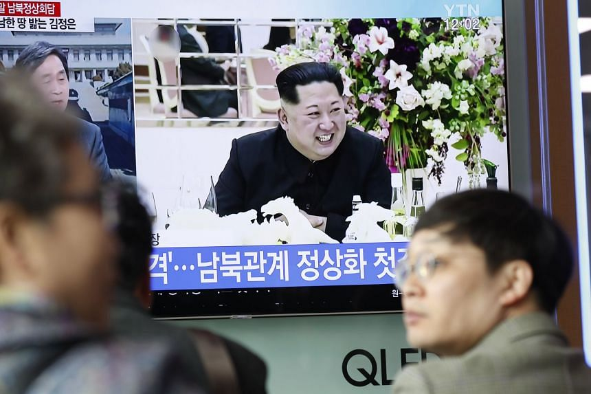 North Korean leader Kim Jong Un in a TV news broadcast in Seoul, South Korea, on March 7, 2018.