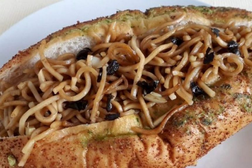 The Yakisoba Pan - fried noodles in a soft bun - is a popular snack in Japan.