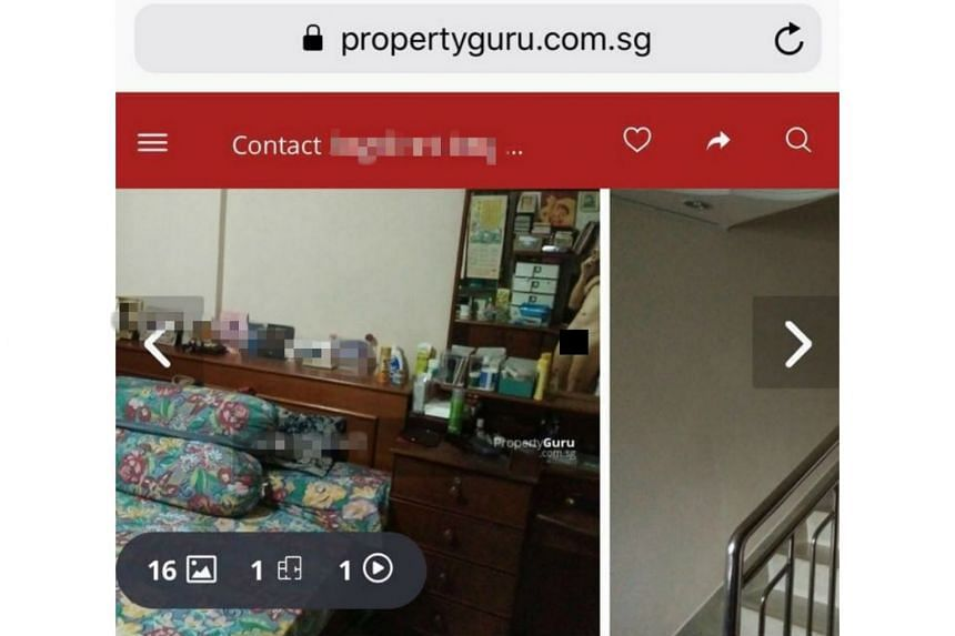 Eagle-eyed buyers noticed a man's naked body in one of the photographs for the Choa Chu Kang mansionette.