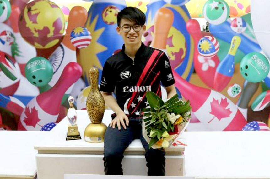 H.H. Emir Cup champion Basil Ng was one of five Singaporean bowlers to reach the tournament's round of 32 in Doha.