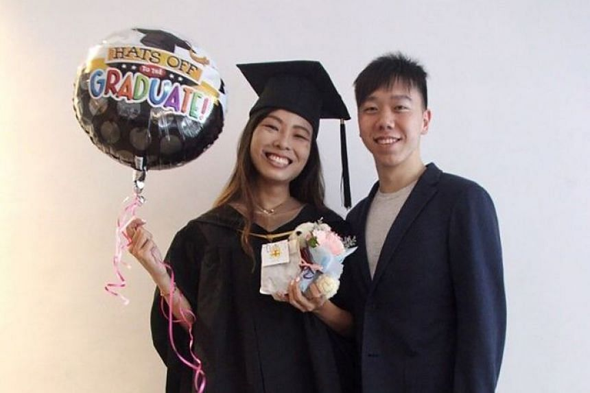 Ms Stefanie Mok and her undergraduate boyfriend Gerald Sim, both 24, will benefit from changes to help more young couples get their first home more quickly, such as deferred assessment of their income for housing loans and grants.