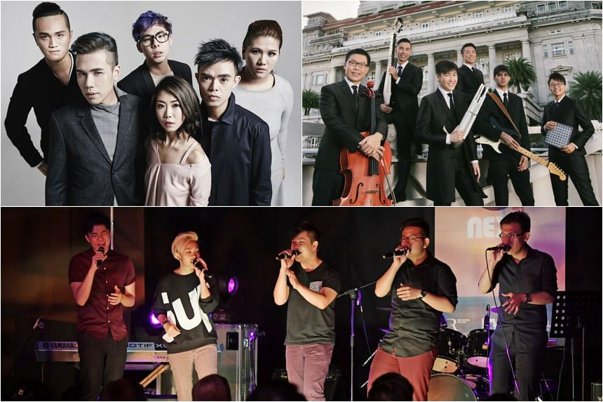 (Clockwise from top left) MICappella, The Teng Ensemble and The Apex Project are among the 13 performers featured in this series of free community concerts held across Singapore sponsored by Singapore Press Holdings Limited.