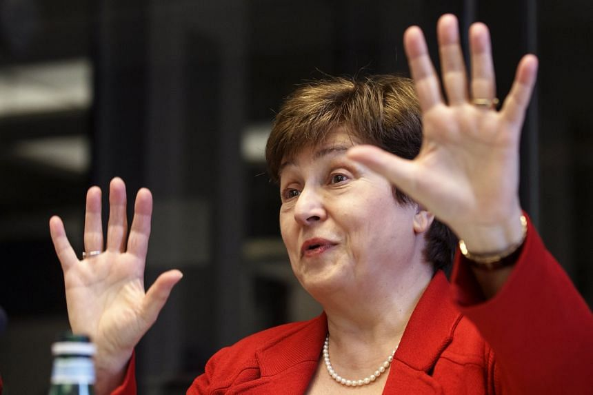 "Kristalina Georgieva (above) said Trump should ""assess the implications"" before going ahead."