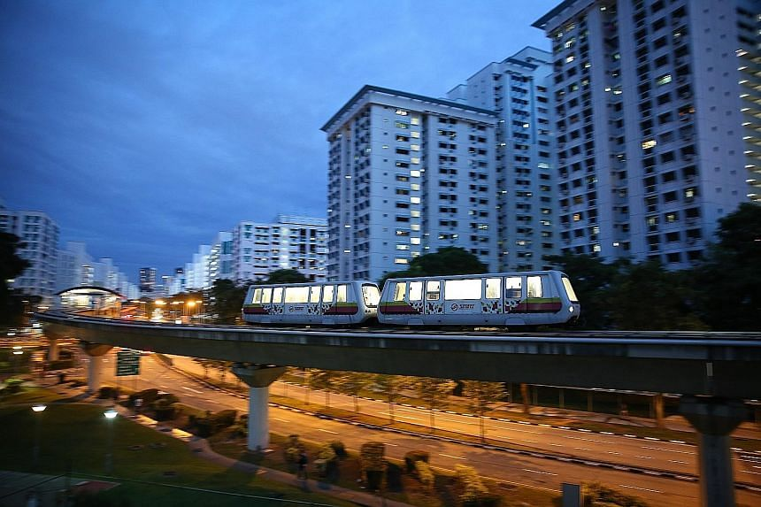 LTA said the average daily ridership for the Bukit Panjang LRT is about 68,000. Out of this, only about 200 passengers - or 0.3 per cent of the total ridership - board or alight at Ten Mile Junction station.
