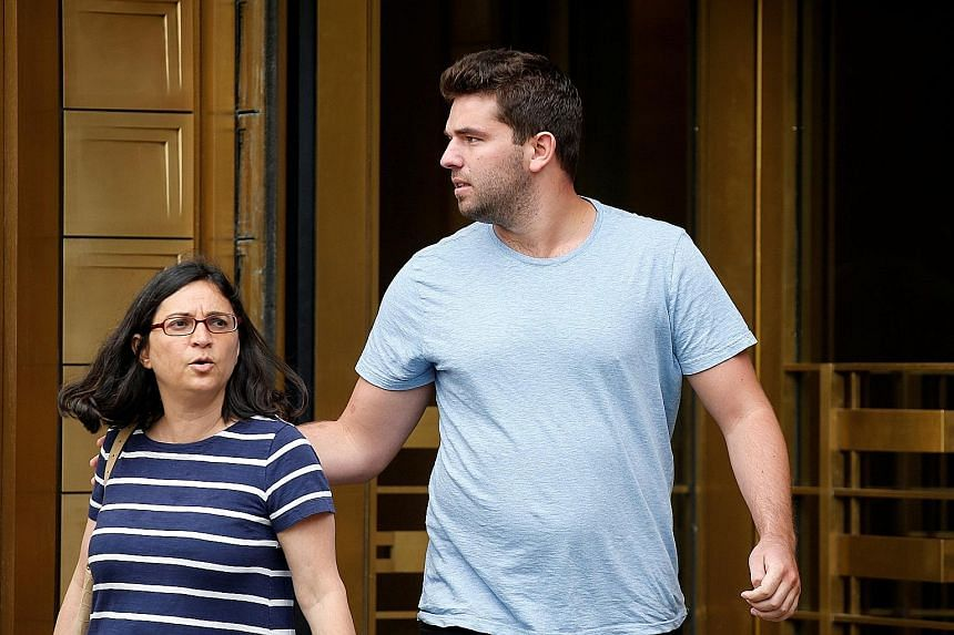 William McFarland, organiser of the Fyre Festival, exiting the United States Federal Court in Manhattan with his lawyer, Ms Sabrina Shroff, in July last year.