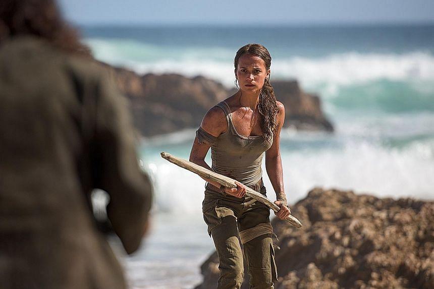 Alicia Vikander plays a vulnerable Lara Croft.
