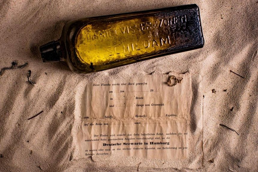 The message in the bottle was written 132 years ago. The bottle was found to have been thrown from a German barque about 950km from the West Australian coast and it will go on display at the WA Maritime Museum in Fremantle.
