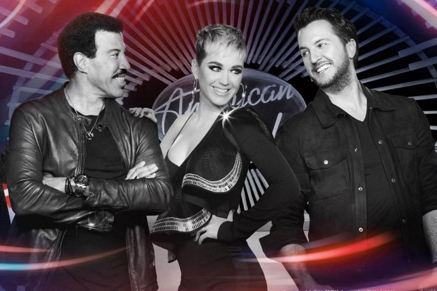 (Left to right) American Idol host Ryan Seacrest, and judges Lionel Ritchie, Katy Perry and Luke Bryan.