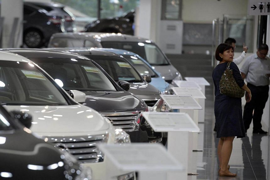 Certificate of entitlement premiums ended higher in the first round of bidding for this month except for prices for commercial vehicles.