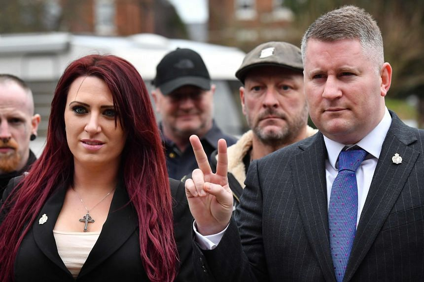 Jayda Fransen (left) and Paul Golding arriving at court in January 2018.