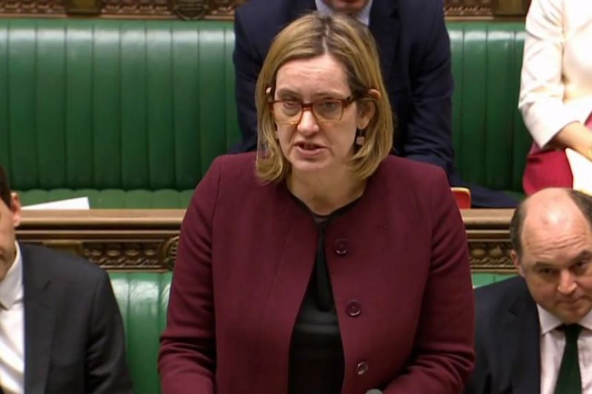 "Interior minister Amber Rudd said Sergei Skripal and his daughter Yulia remained ""unconscious and in a critical but stable condition"" after being found collapsed on a bench in the southwestern English city of Salisbury on March 4, 2018."