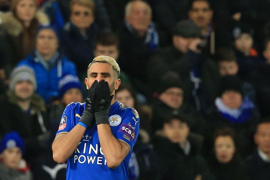A spokesman for the club told AFP that Mahrez's (above) account had been hacked.