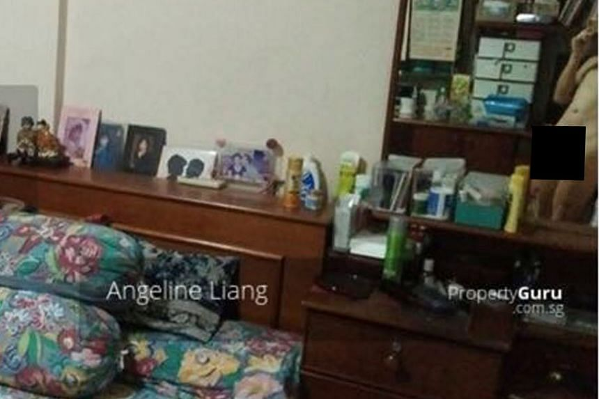 In one of the photos of the flat which was posted on various property websites, a nude man could be seen in the reflection of a mirror.