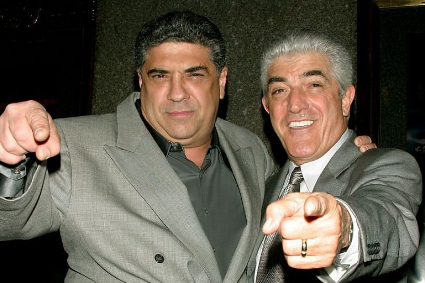 Actors Vincent Pastore (left) and Frank Vincent arrive for the fifth season premiere of The Sopranos in 2004.