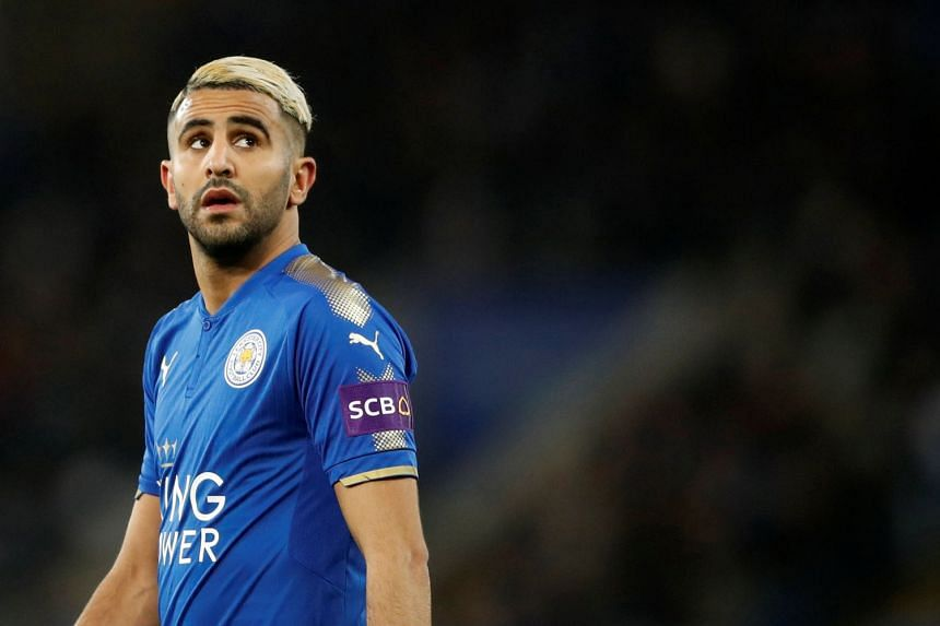 Mahrez (above) has declined to say that he will commit his long-term future to the Foxes.