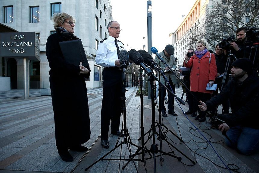 Chief medical officer Sally Davies and assistant commissioner Mark Rowley from the Metropolitan Policemaking a statement on Mr Sergei Skripal and his daughter, who were poisoned by a nerve agent. A police officer at the scene was also affected by the