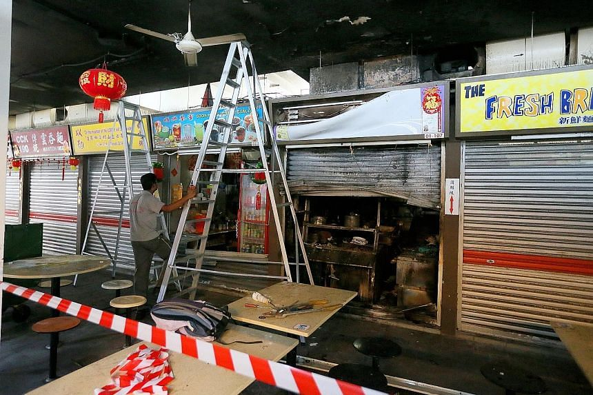 Marine Parade Town Council said in a notice to patrons and stallholders that the food centre would be closed until further notice to facilitate repair and repainting work. A total of 40 stalls have been affected.