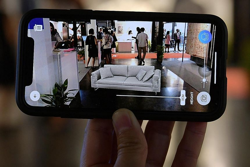 Application Mixgo allows visitors at the International Furniture Fair Singapore to have a clearer idea of how furniture will look like in their homes, using augmented reality. The fair, which runs till Sunday at the Singapore Expo, is the first of it