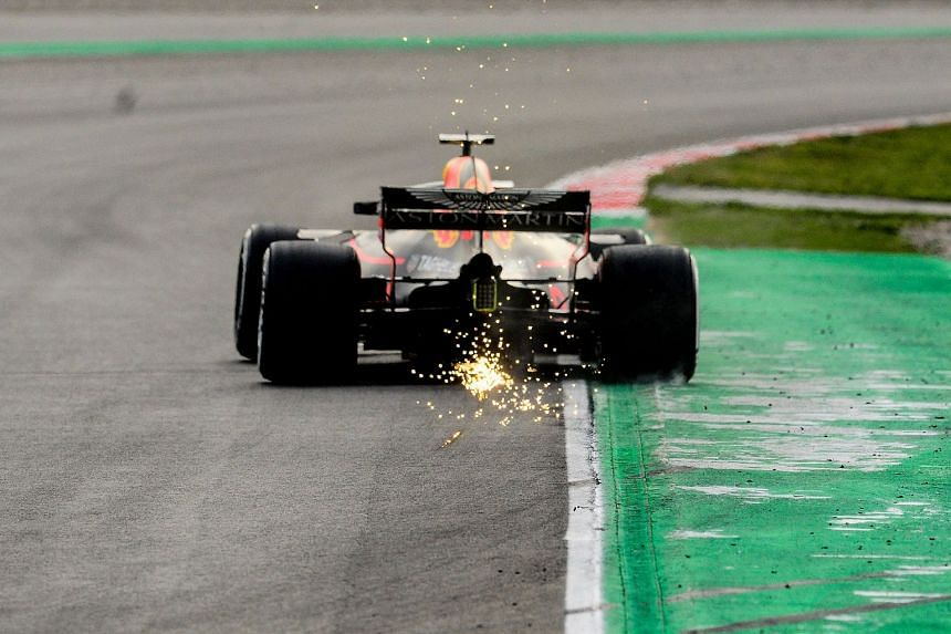 Verstappen driving during the third day of the second week of tests for the Formula One Grand Prix season.