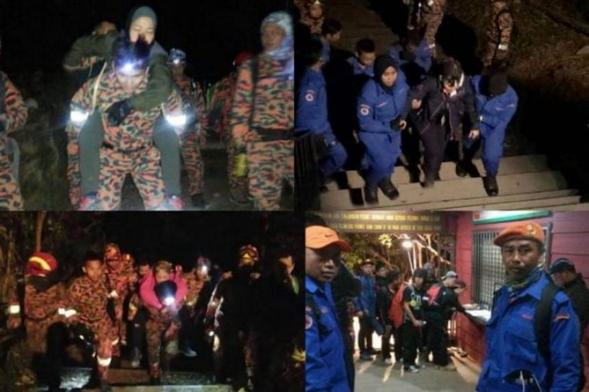 Aside from the climbers, the others brought down by Mountain Search and Rescue teams include staff who were managing hostels on Mount Kinabalu, four construction workers and Sabah Parks staff.
