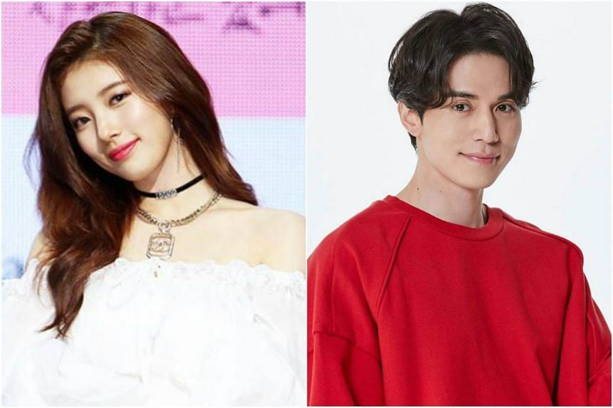 Suzy (left) and Lee Dong Wook's agencies confirmed that they have recently started dating after meeting each other at an unofficial occasion.
