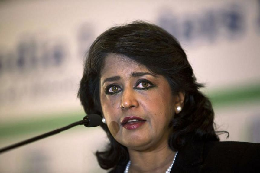 Mauritian President Ameenah Gurib-Fakim in a file photo taken on Nov 12, 2015.