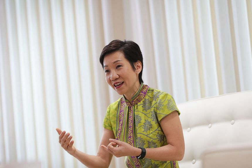 Minister for Culture, Community and Youth Grace Fu speaking in an interview with The Straits Times and Lianhe Zaobao in February 2018 on her ministry's plans for the year.