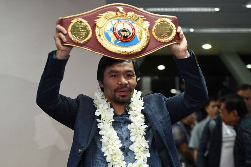 """Manny Pacquiao (above) called himself the """"underdog"""" for the fight against Lucas Matthysse."""