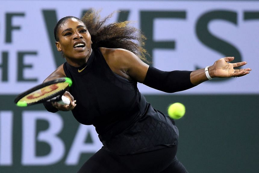 Serena Williams (above) in action during her opening match against at the WTA Indian Wells event against Zarina Diyas in Indian Wells, California, on March 8, 2018.